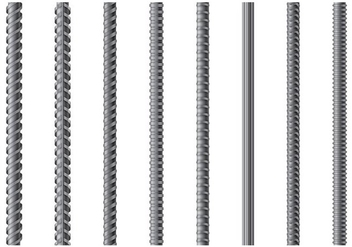 Set Of Rebar Vector - Free vector #382103