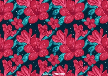 Red Flowers Background - vector #382143 gratis