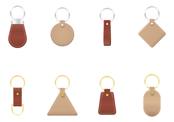 Free Leather Keychains Vector - Kostenloses vector #382163