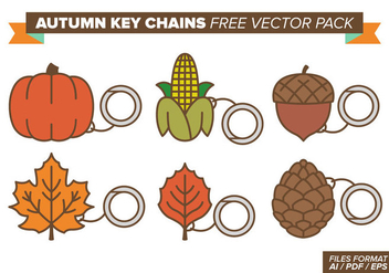 Autumn Key Chains Free Vector Pack - Free vector #382183