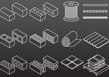 Construction Material Icons - Free vector #382213