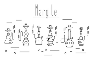 Free Nargile Collection - Kostenloses vector #382373