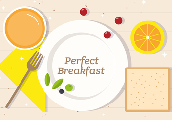 Free Perfect Breakfast Vector Illustration - Free vector #382563