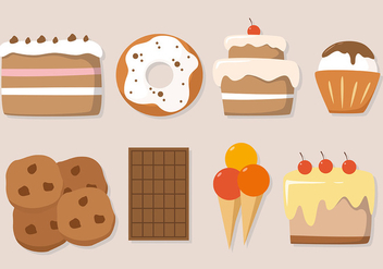 Free Cake Vector Illustration - бесплатный vector #382623