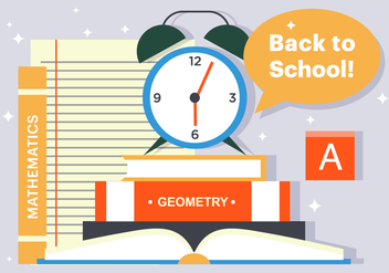 Free Back To School Books Illustration - Free vector #382703