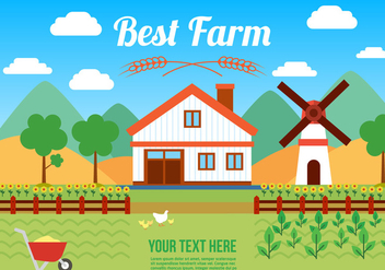 Free Agro Farm Vector Illustration - Free vector #382733