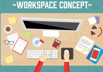 Free Workspace Vector - Free vector #382753