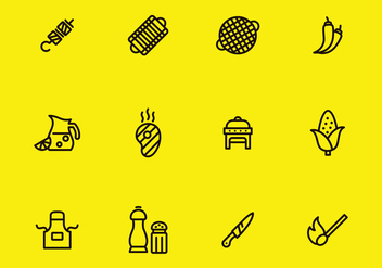 Barbecue Icon Set - vector gratuit #382803