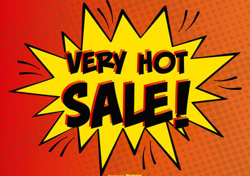 Comic Style Hot Sale Illustration - Free vector #382853
