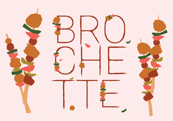 Free Colorful Brochette Food Vector - Free vector #382863