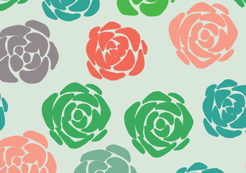 Colorful Succulent Pattern - Free vector #382883