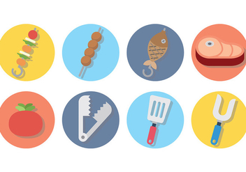 Free Brochette Icons Vector - vector gratuit #382903