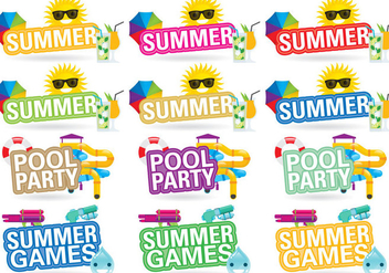 Summer Titles - vector gratuit #383013