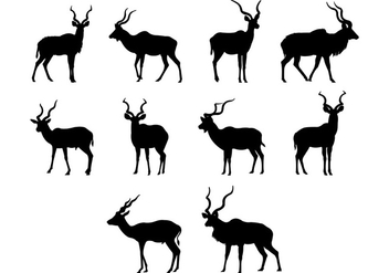 Kudu Silhouettes Vector - Free vector #383033