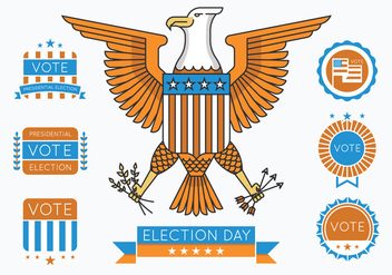 Presidential Badges - Free vector #383093