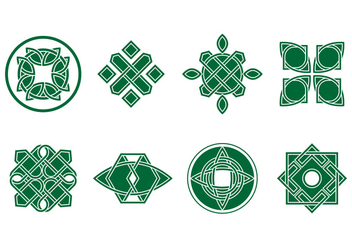 Free Green Celtic Ornament Vector - vector #383153 gratis