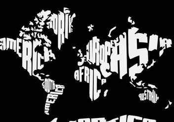 Word Map Black and White - vector gratuit #383203