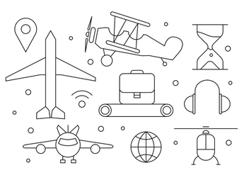 Free Airplane Icons - Free vector #383283