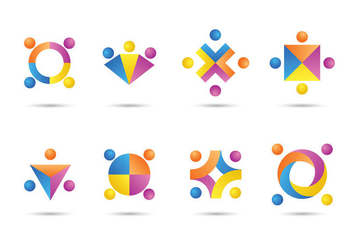 Free Working Together Icons - vector #383363 gratis