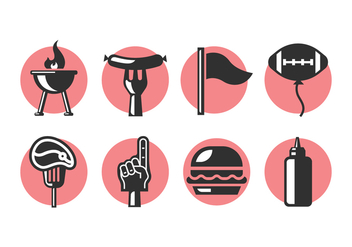 Tailgate Party Icons - vector gratuit #383433