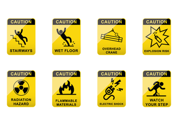 Free Caution Sign Vector - vector gratuit #383523