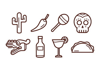 Free Mexico Icon Set - vector #383543 gratis