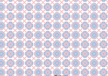 Pink And Blue Talavera Tiles Seamless Background - бесплатный vector #383553