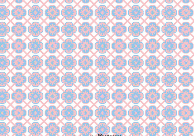 Pink And Blue Talavera Tiles Seamless Background - Free vector #383553