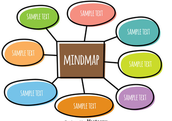 Colorful Mind Map Sketch Vector - vector gratuit #383633