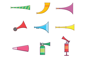 Free Horns & Trumpets Vector - Free vector #383673