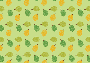 Durian Fruit Pattern - vector gratuit #383683