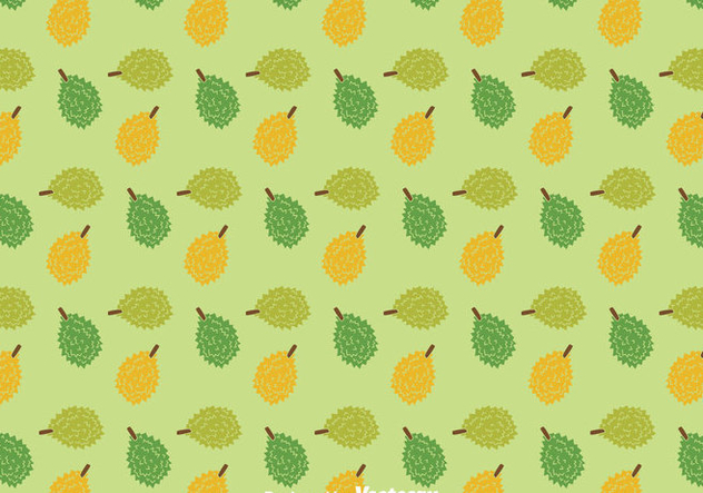 Durian Fruit Pattern - Free vector #383683