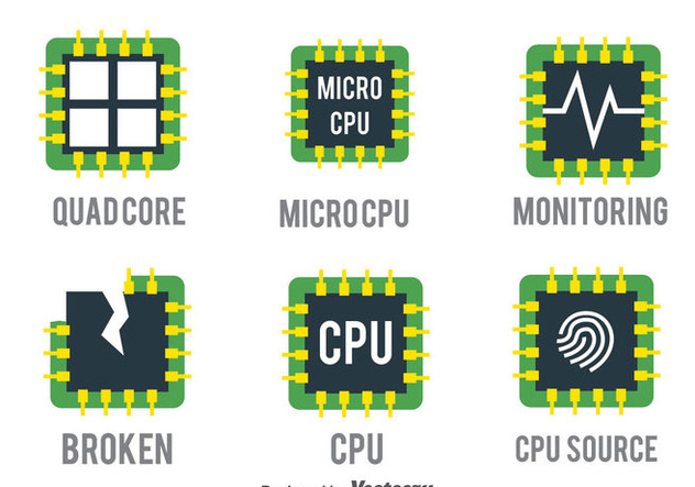 Cpu Vector Set - vector gratuit #383703