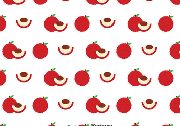 Lychee White Pattern - Free vector #383713