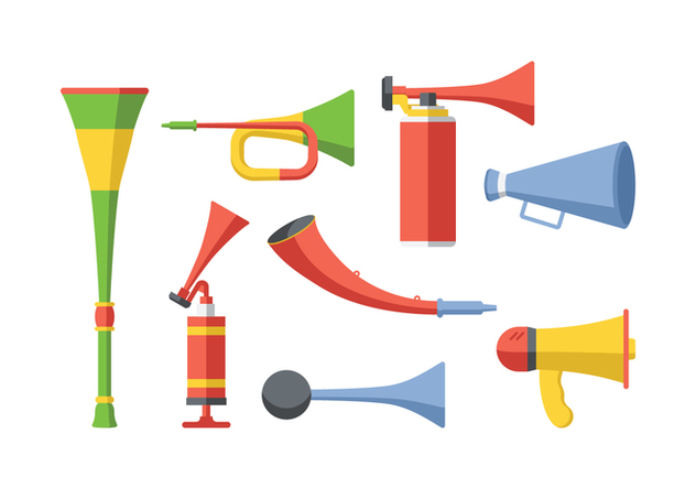 Free Cheering Horn Vector - Free vector #383743