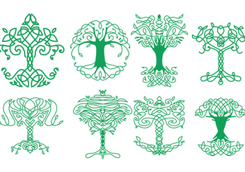 Free Celtic Tree Icons - бесплатный vector #383753