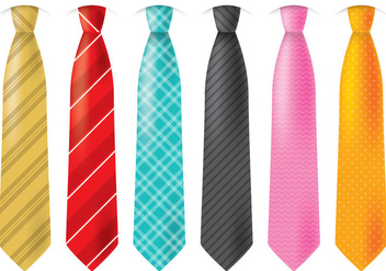 Colorful Ties - Kostenloses vector #383763