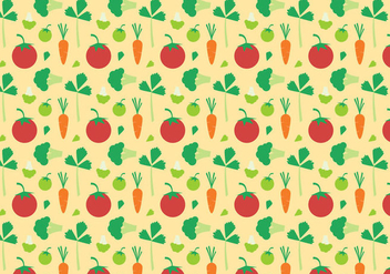 Free Vegetables Pattern Vector - vector gratuit #383813