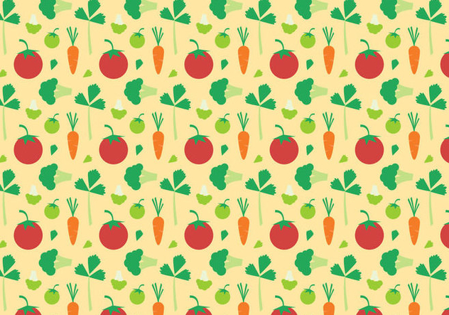 Free Vegetables Pattern Vector - Kostenloses vector #383813