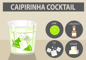 Caipirinha cocktail vector illustration - Free vector #383863