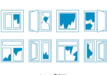 Broken Window Collection Vector - Free vector #383873