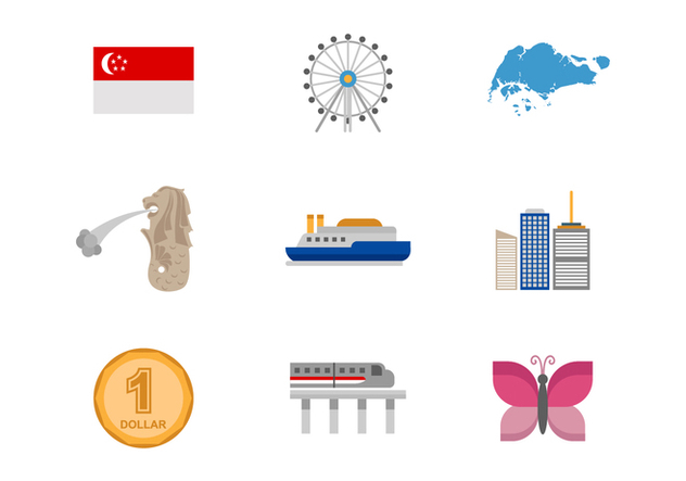 Free Singapore Icons Vector - vector #383883 gratis