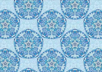 Blue Vector Colorful Mandala Pattern - vector gratuit #383943