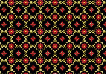 Traditional Ornament Black Tiles Background - Kostenloses vector #383963