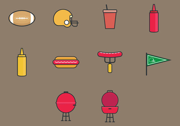 Tailgate Icon Set - Free vector #383973