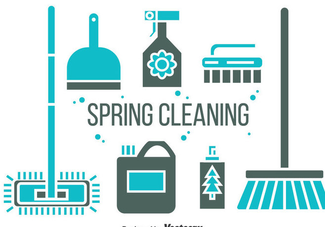 Spring Cleaning Icons Vector - vector gratuit #383983