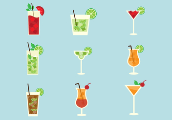 Free Popular Alcohol Cocktails Vector - Kostenloses vector #383993