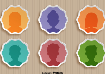 Vector Set Of Person Icons - Kostenloses vector #384003