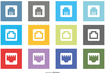Ethernet Conection Icons - Free vector #384053