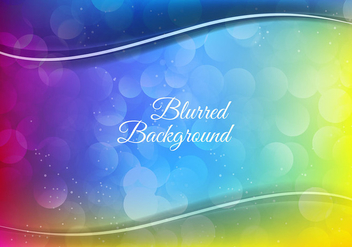 Free Vector Colorful Blurred Background - бесплатный vector #384113